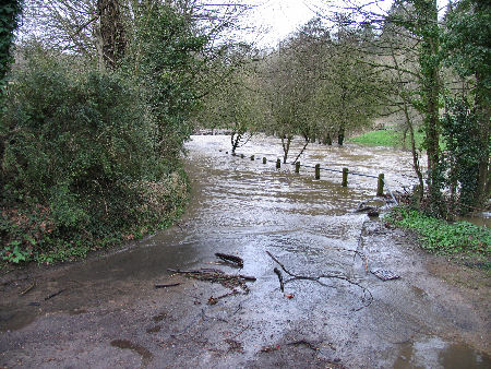 River Frome Somerset in flood
