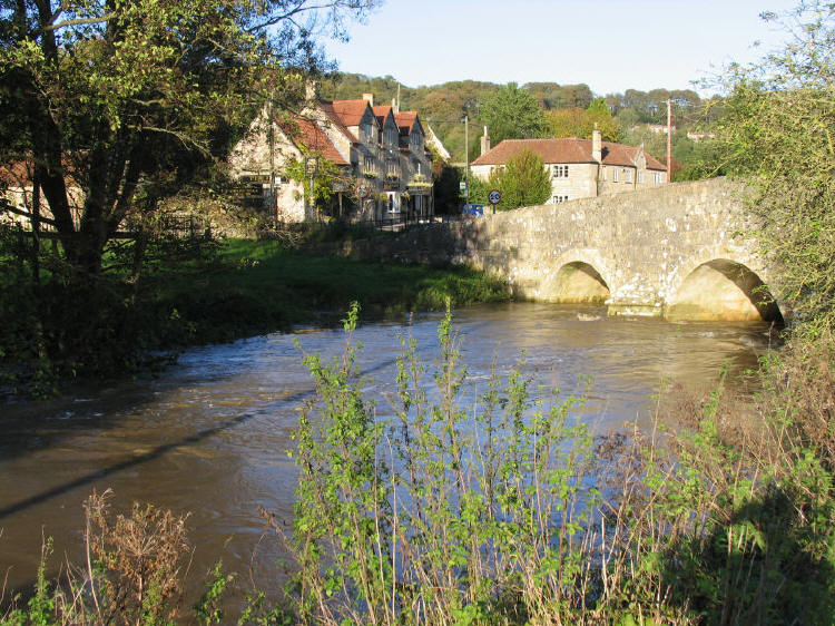 The Inn at Freshford beside the River Frome Bridge  in Somerset